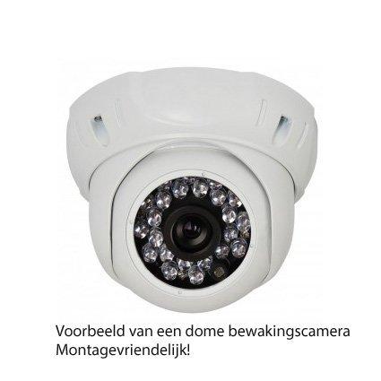 Montagevriendelijke dome bewakingscamera