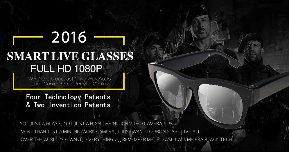 Flyer smart glasses with hidden camera