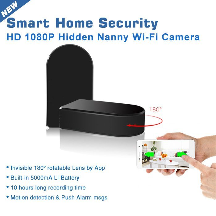 Invisible spy camera with wifi and sd card recording
