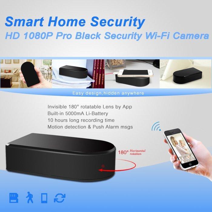 Black box sd card wifi security camera spy